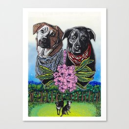 Top Field Dogs Canvas Print