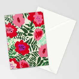 color matters: happy florals in pink light backround Stationery Cards