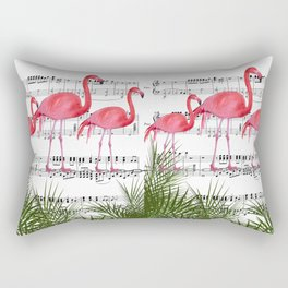 Flamingo dance Rectangular Pillow