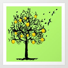Orange tree Orchard Art Print