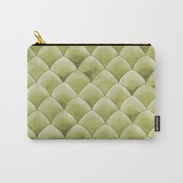 Green Snakeskin-ish Tessallation Carry-All Pouch