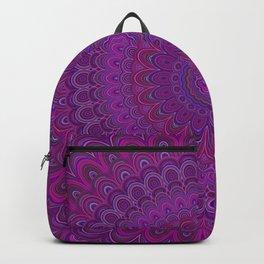Purple flower mandala Backpack
