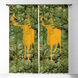 Deer on Green Camo Blackout Curtain