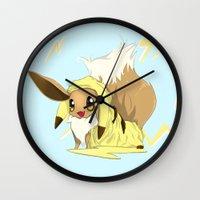 eevee Wall Clocks featuring Eevee-licious! by EeekGirl