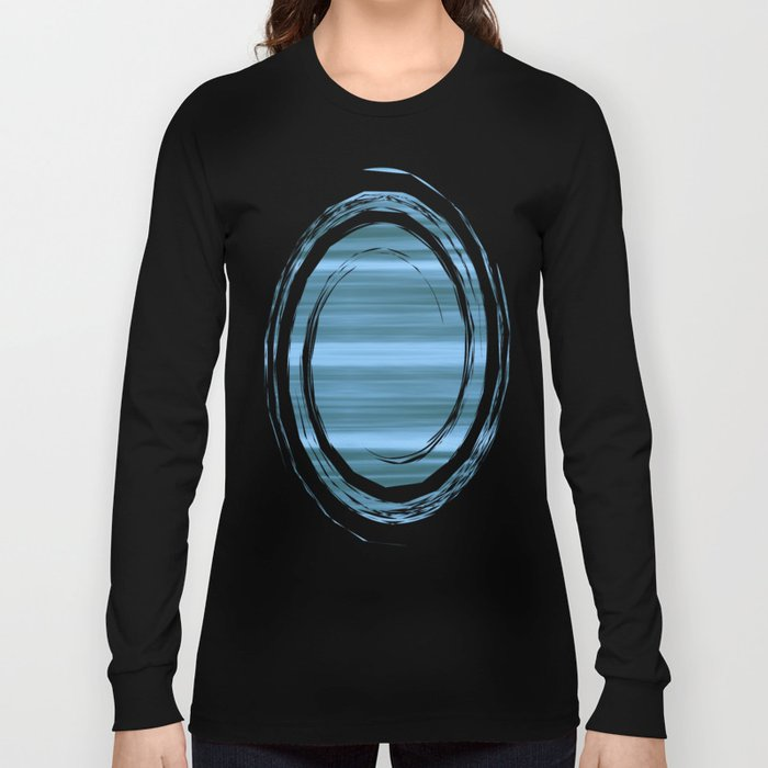 Abstraction Serenity in Ocean Long Sleeve T-shirt