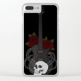 Skull and Guitar Clear iPhone Case