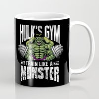 gym Mugs featuring Hulk's Gym by Corey Courts