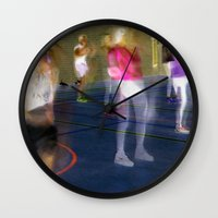 sport Wall Clocks featuring Sport by Egle Tuleikyte