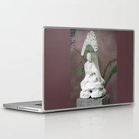 buddah Laptop & iPad Skins featuring Sitting Buddah by WiccedArt