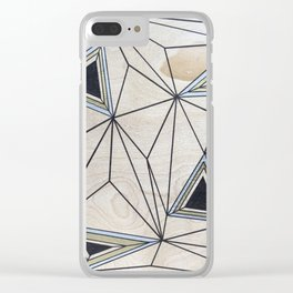 Geometric Study on Wood Clear iPhone Case