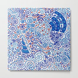 Ka-doodle Doodle Dooooo! Metal Print