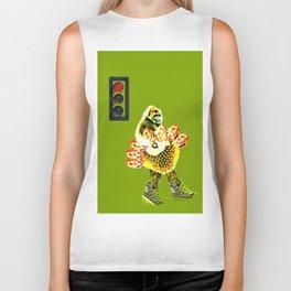 monkey and the traffic light Biker Tank
