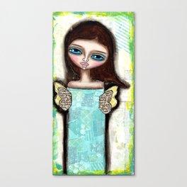 Mixed Media Fairy Girl 2 Canvas Print
