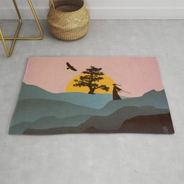 Nature Love Of A Peacful Warrior Rug
