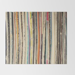 Record Collection Throw Blanket