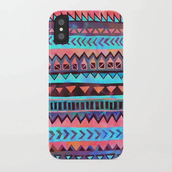 PATTERN {Tribal Stripe- Aqua} iPhone Case