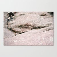 climbing Canvas Prints featuring climbing by tierra