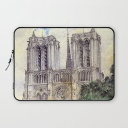 """Cass Gilbert """"Cathedral of Notre Dame, Paris"""" (1933) Laptop Sleeve"""