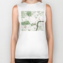 London city map minimal Biker Tank