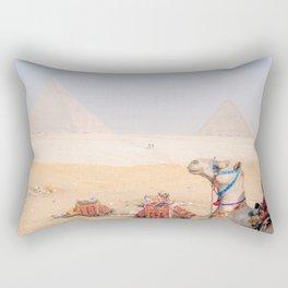 Camel at Pyramids of Giza Egypt Cairo Rectangular Pillow