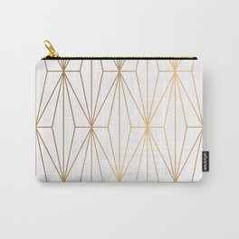 Gold Geometric Pattern Illustration Carry-All Pouch