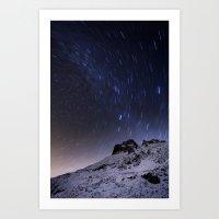 night sky Art Prints featuring Night sky by Mila Pechenyakova