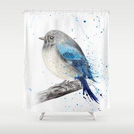 Round and Happy Bird Shower Curtain