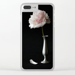 Portrait of a Peony II Clear iPhone Case