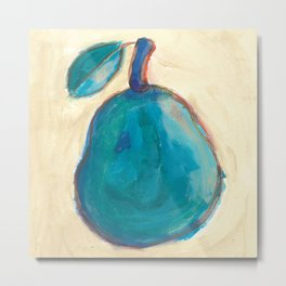 Pop Art Pear for Artistic Kitchens by 9 Year Old Wyatt Metal Print