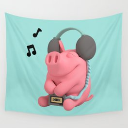 Rosa the Pig WalkMan Wall Tapestry