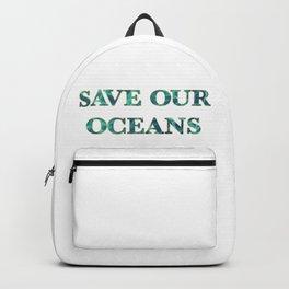 SAVE OUR OCEANS by Vastu Backpack