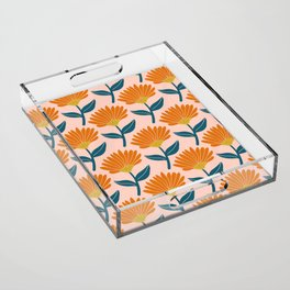Floral_pattern Acrylic Tray