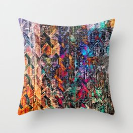 Colored Links Throw Pillow