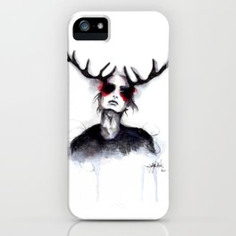 Antlers // Fashion Illustration iPhone Case