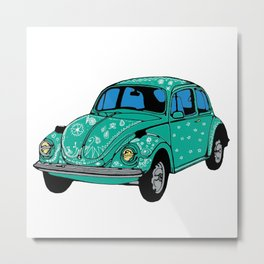 Hippie Car Mandala elements Metal Print