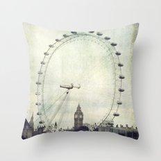 Big Ben and London Eye Throw Pillow
