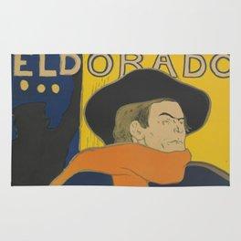 "Henri de Toulouse-Lautrec ""Eldorado: Aristide Bruant"" Rug"