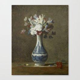 A Vase of Flowers by Jean-Baptiste-Simeon Chardin, 1750 Canvas Print