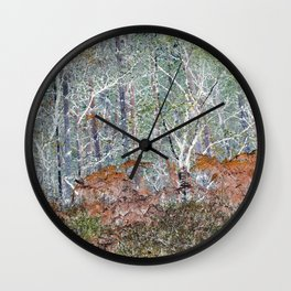 Woodliness Loveliness Wall Clock