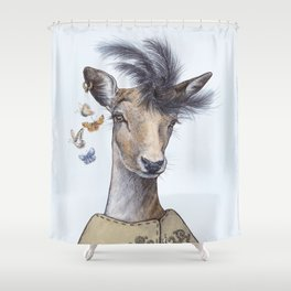 Fashion deer Shower Curtain