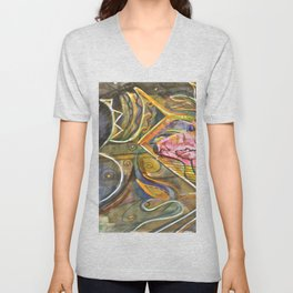 Rocky Abstract Unisex V-Neck