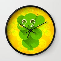 ganesha Wall Clocks featuring Ganesha by Plushedelica