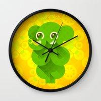 ganesha Wall Clocks featuring Ganesha by Plushedelica