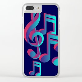 Music Notes Clear iPhone Case