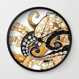 Metallic Octopus Wall Clock