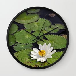 Water Lily, VII Wall Clock