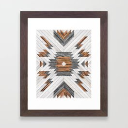 Urban Tribal Pattern No.8 - Aztec - Wood Framed Art Print