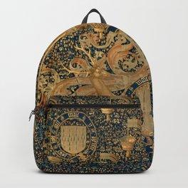 Vintage Golden Deer and Royal Crest Design (1501) Backpack