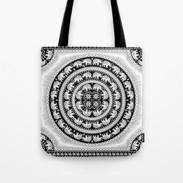 Elephant Mandala Tapestry Tote Bag