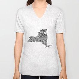 Typographic New York Unisex V-Neck